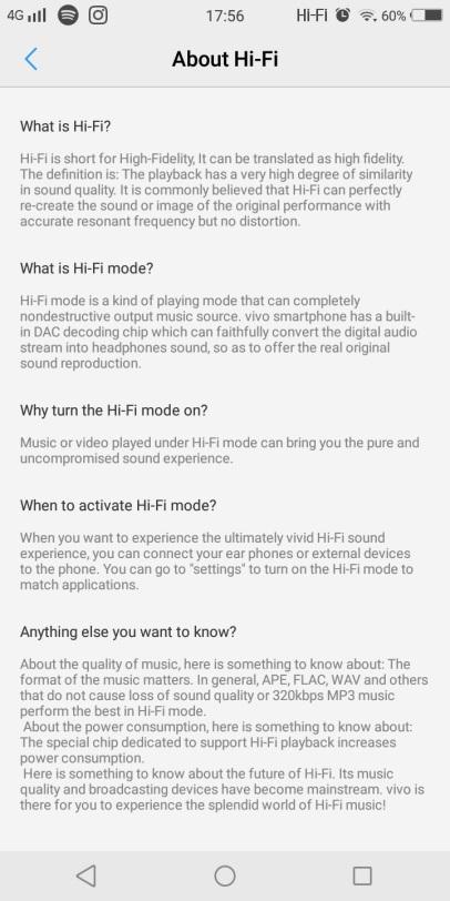 Deskripsi mengenai HiFi Mode itu apa